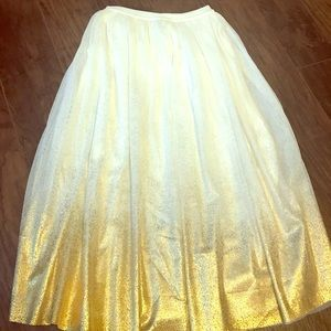 Other - Long skirt with gold metallic umbre